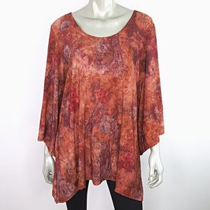 Brittany Black Womens Top Plus Size 1X